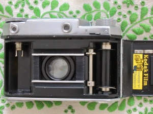 Kodak Retina II (142) back opened