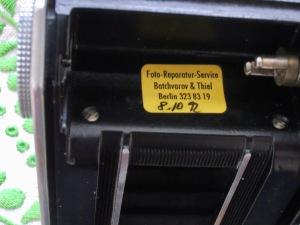 Kodak Retina II (142) service sticker